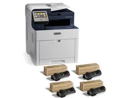 WorkCentre 6515 Pack Télétravail : 6515V_DNI 4 en 1 Imprimante couleur Multifonction avec 1 jeu complet de toner CMYK en plus - jusqu'à 3 500 pages - www.store.xerox.eu